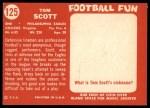 1958 Topps #125  Tom Scott  Back Thumbnail
