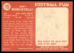 1958 Topps #15  Andy Robustelli  Back Thumbnail