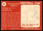 1958 Topps #41   49ers Team Back Thumbnail