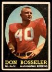 1958 Topps #132  Don Bosseler  Front Thumbnail