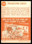 1963 Topps #121   Eagles Team Back Thumbnail