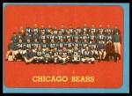 1963 Topps #72   Bears Team Front Thumbnail