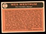 1966 Topps #341  Wes Westrum  Back Thumbnail