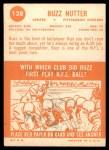 1963 Topps #128  Buzz Nutter  Back Thumbnail