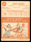 1963 Topps #57  Erich Barnes  Back Thumbnail