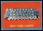 1963 Topps #60   Giants Team Front Thumbnail