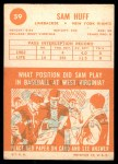 1963 Topps #59  Sam Huff  Back Thumbnail