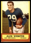 1963 Topps #51  Alex Webster  Front Thumbnail