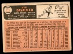 1966 Topps #325  Vic Davalillo  Back Thumbnail