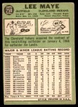 1967 Topps #258  Lee Maye  Back Thumbnail