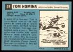 1964 Topps #57  Tom Nomina  Back Thumbnail