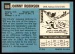 1964 Topps #105  Johnny Robinson  Back Thumbnail