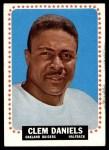 1964 Topps #136  Clem Daniels  Front Thumbnail