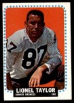 1964 Topps #64  Lionel Taylor  Front Thumbnail