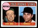 1969 Topps #49 G  -  Steve Jones / Ellie Rodriguez Royals Rookies Front Thumbnail