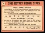 1969 Topps #49 G  -  Steve Jones / Ellie Rodriguez Royals Rookies Back Thumbnail
