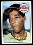 1969 Topps #258  Jackie Hernandez  Front Thumbnail