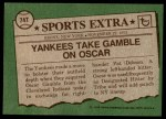 1976 Topps Traded #74 T Oscar Gamble  Back Thumbnail