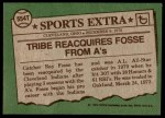 1976 Topps Traded #554 T Ray Fosse  Back Thumbnail