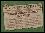 1976 Topps Traded #259 T Darrel Chaney  Back Thumbnail