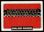 1964 Topps #153   Oakland Raiders Team Front Thumbnail
