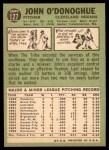 1967 Topps #127  John O'Donoghue  Back Thumbnail