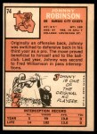 1966 Topps #74  Johnny Robinson  Back Thumbnail
