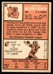 1966 Topps #66  Chris Buford  Back Thumbnail