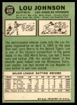1967 Topps #410  Lou Johnson  Back Thumbnail