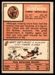1966 Topps #23  Elbert Dubenion  Back Thumbnail