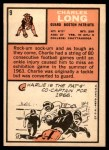 1966 Topps #9  Charles Long  Back Thumbnail