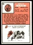 1966 Topps #29  Billy Shaw  Back Thumbnail