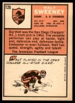 1966 Topps #126  Walt Sweeney  Back Thumbnail