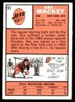 1966 Topps #93  Dee Mackey  Back Thumbnail