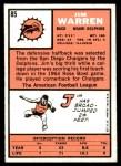 1966 Topps #85  Jim Warren  Back Thumbnail