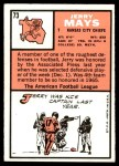 1966 Topps #73  Jerry Mays  Back Thumbnail