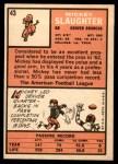 1966 Topps #43  Mickey Slaughter  Back Thumbnail