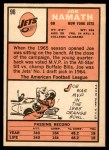 1966 Topps #96  Joe Namath  Back Thumbnail