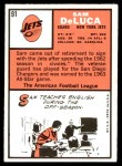1966 Topps #91  Sam DeLuca  Back Thumbnail