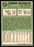 1967 Topps #487 COR Tommie Reynolds  Back Thumbnail