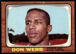 1966 Topps #13  Don Webb  Front Thumbnail