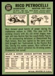 1967 Topps #528  Rico Petrocelli  Back Thumbnail
