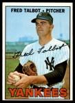 1967 Topps #517  Fred Talbot  Front Thumbnail