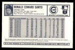 1973 Kellogg's #54  Ron Santo  Back Thumbnail