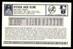 1973 Kellogg's #50  Steve Kline  Back Thumbnail