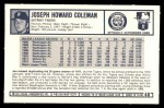 1973 Kellogg's #48  Joe Coleman  Back Thumbnail