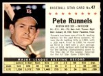 1961 Post #47 COM Pete Runnels   Front Thumbnail