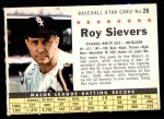 1961 Post #26 COM Roy Sievers   Front Thumbnail