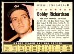 1961 Post #8 COM Bobby Richardson  Front Thumbnail