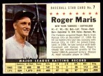 1961 Post #7 COM Roger Maris   Front Thumbnail